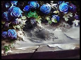 Blue roses by haryarti
