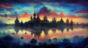 Russian monastery by haryarti