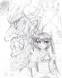 Zusa and Rakdoth sketch by Candor-Shade
