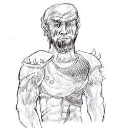 Barbarian Sketch by Candor-Shade
