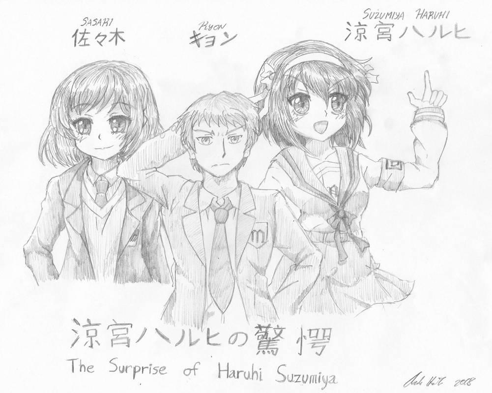 Kyon Haruhi And Sasaki by Candor-Shade
