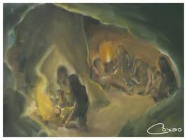 Homens da Caverna by coxao