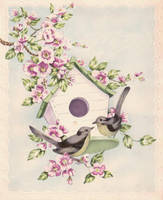 Darling Buds Of May - Blue Vintage by Bnspyrd