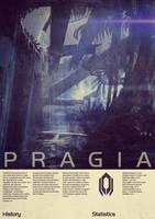 Mass Effect Pragia Vintage Poster by Titch-IX