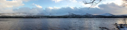Loch Morlich Panorama by Titch-IX