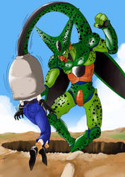 What if: Cell Absorbs Android 18 first (Page 1) by OverlordHero