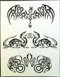 Dragon Tattoo Designs by LittleSilverWingz
