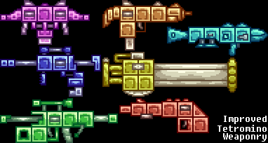 Improved Tetromino Weaponry by Four-Cubed