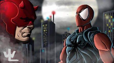 Daredevil and Scarlet Spider by WillBruce89