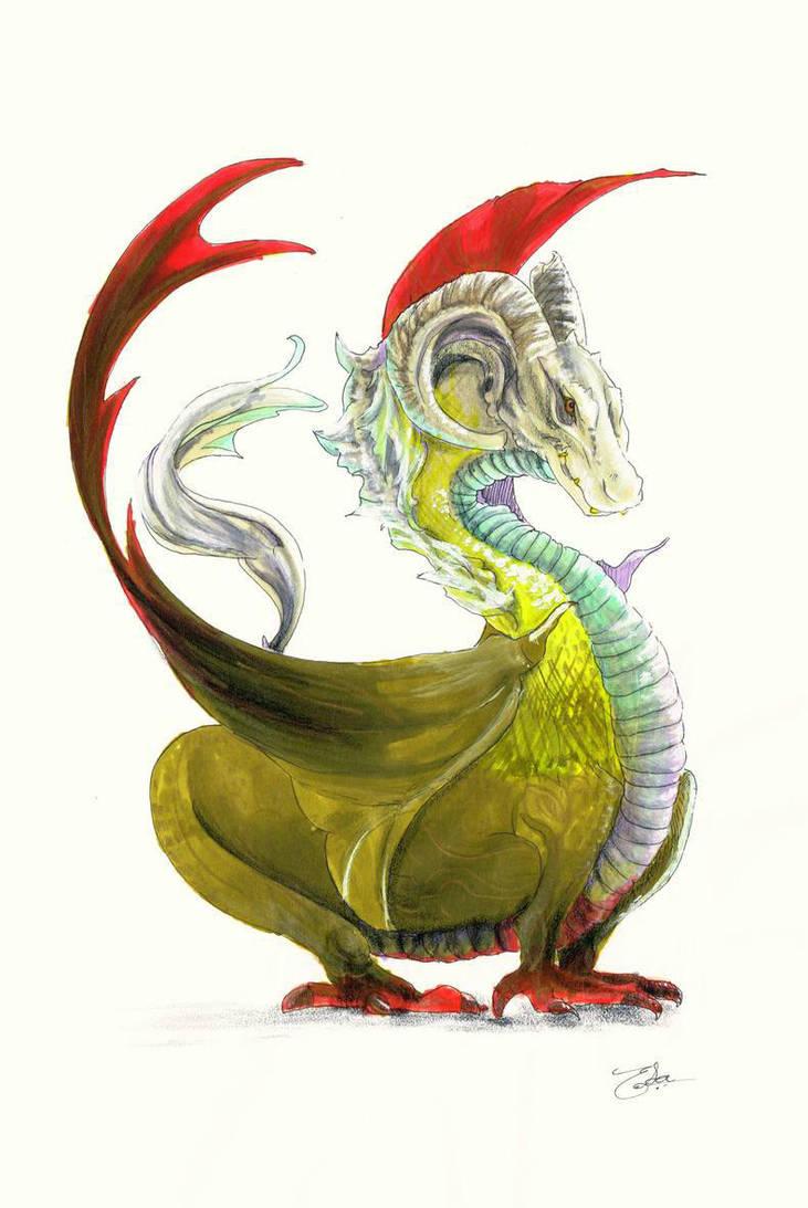 Tammed dragon by Dislexas