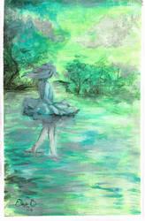 Green lagoon by Dislexas