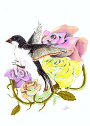 zesty bird bouquet by Dislexas