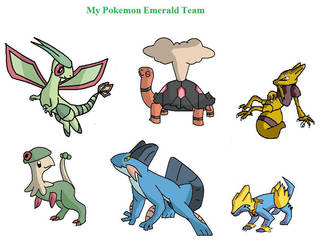My Pokemon Emerald Team by Housho