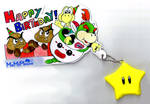 Bowser Jr. Birthday Card by MeMiMouse