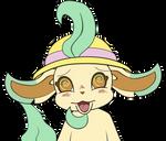 Leafeon Emoji Dizzy by MeMiMouse