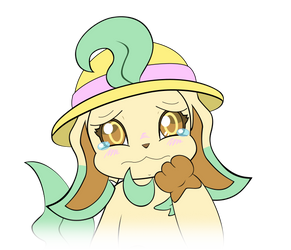 Leafeon Emoji Sad Crying by MeMiMouse