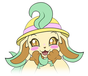 Leafeon Emoji Happy or Excited by MeMiMouse
