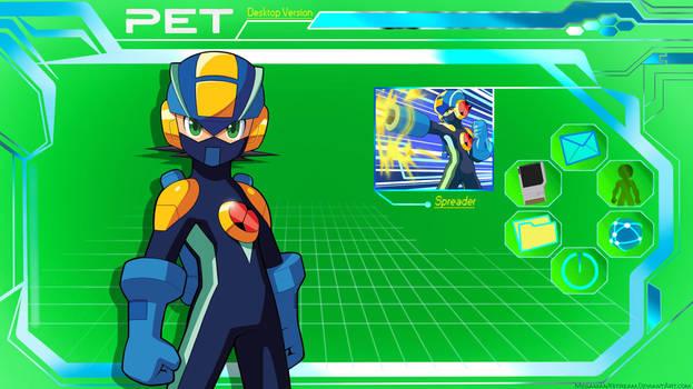 MegaMan.EXE PET Desktop Wallpaper by Mega-X-stream