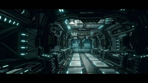 UE4 Modular Sci Fi Corridor Upgraded by L04D3D