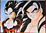 Goku And Vegeta by Drawings-forever