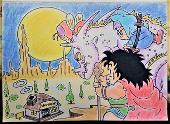 Akira toriyama art by Drawings-forever