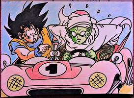 Dragon ball  -  a day of nervousness - in color by milkalexandra1234