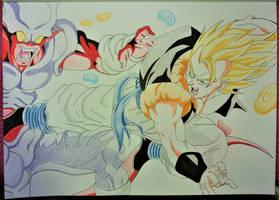 goku vs janemba  -  in color by milkalexandra1234