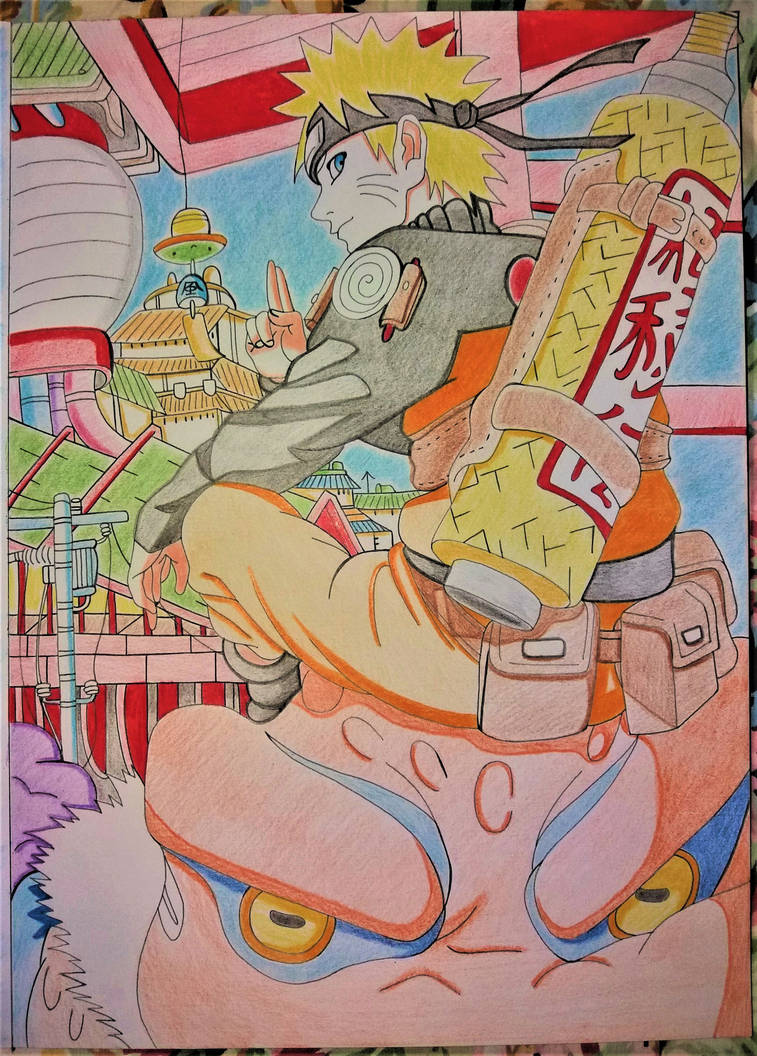 naruto uzumaki - in color by Drawings-forever