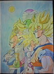 dragon ball z  friend group - in color by milkalexandra1234