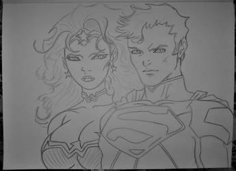 wonder woman  and  superman by milkalexandra1234