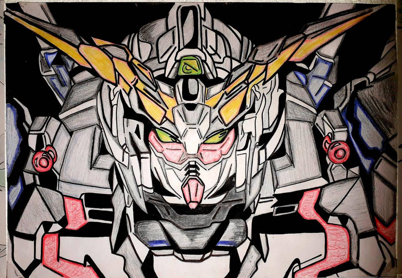 Gundam unicorn by Drawings-forever