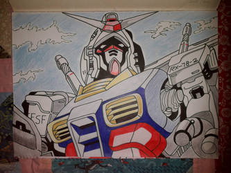 Gundam  rx 78 - in color by Drawings-forever