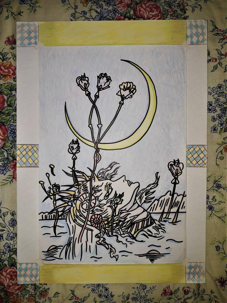 lunar meeting by Drawings-forever