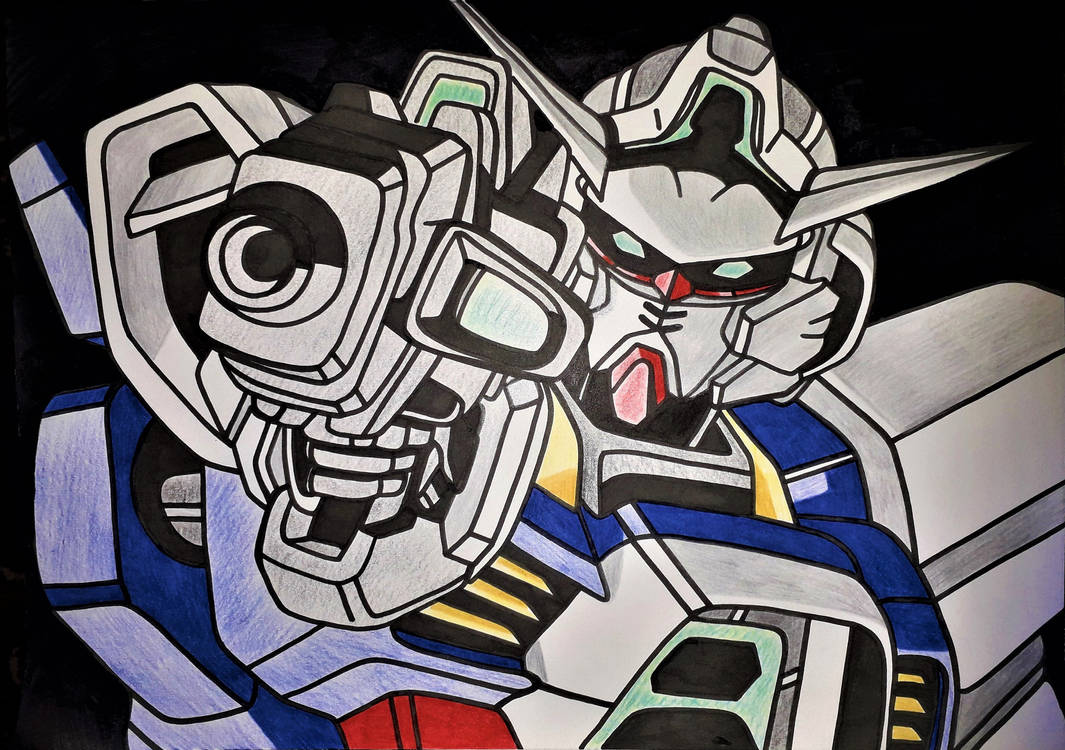 Gundam  Age - ink version by Drawings-forever