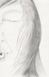 Line drawing self portrait 1 by PegasusHoshizora