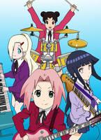 Naruto Girls-K-ON by Zuriii