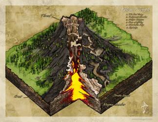 Volcanic Temple by Jaxilon