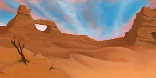 Desert Landscape by KalisCoraven