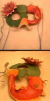 Koi and Lotus Mask by KalisCoraven