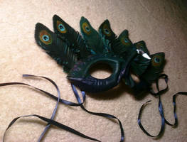 Peacock Mask Side View by KalisCoraven