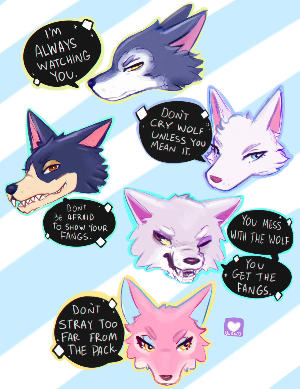 My wolf villagers! by TheDevilOnYourBack on DeviantArt