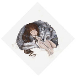 Girl And Wolf by Iararawr