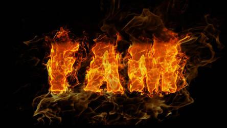 FAM - fire text by fam4792