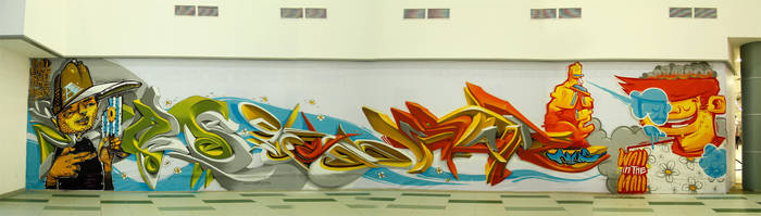 Wall in the mall by Arnou