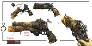 Bulletstorm Weapon Concept art by JohnMcCambridge