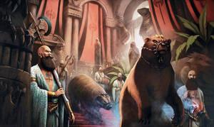 Bearded Priests of Novros by JohnMcCambridge