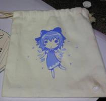 Cirno on cloth bag by Boldblade