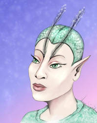 Inktober elves - a flower elf by GersifGalsana