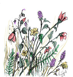 inktober day 2 - Flowers by GersifGalsana