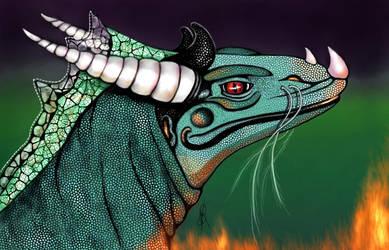 Horned Dragon by GersifGalsana